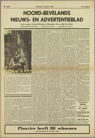 Noord-Bevelands Nieuws- en advertentieblad 1958-08-02