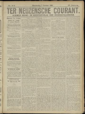 Ter Neuzensche Courant. Algemeen Nieuws- en Advertentieblad voor Zeeuwsch-Vlaanderen / Neuzensche Courant ... (idem) / (Algemeen) nieuws en advertentieblad voor Zeeuwsch-Vlaanderen 1920-10-07