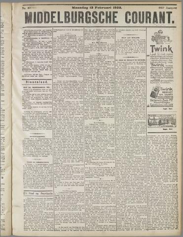 Middelburgsche Courant 1922-02-13