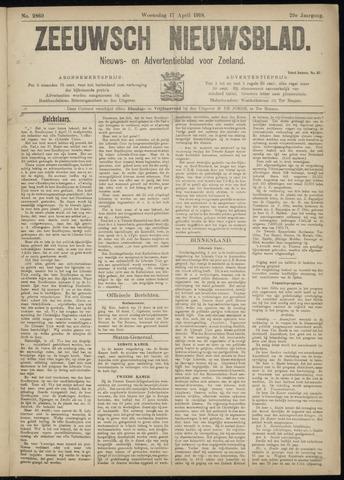 Ter Neuzensch Volksblad. Vrijzinnig nieuws- en advertentieblad voor Zeeuwsch- Vlaanderen / Zeeuwsch Nieuwsblad. Nieuws- en advertentieblad voor Zeeland 1918-04-17