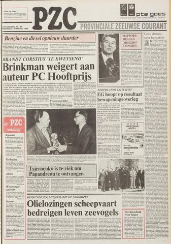 Provinciale Zeeuwse Courant 1985-02-13