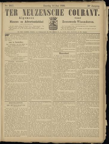 Ter Neuzensche Courant. Algemeen Nieuws- en Advertentieblad voor Zeeuwsch-Vlaanderen / Neuzensche Courant ... (idem) / (Algemeen) nieuws en advertentieblad voor Zeeuwsch-Vlaanderen 1890-06-14
