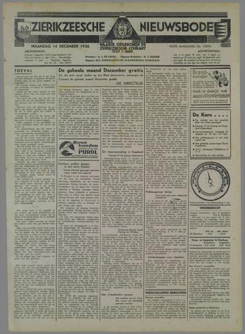 Zierikzeesche Nieuwsbode 1936-12-14