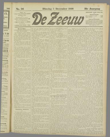 De Zeeuw. Christelijk-historisch nieuwsblad voor Zeeland 1916-12-05