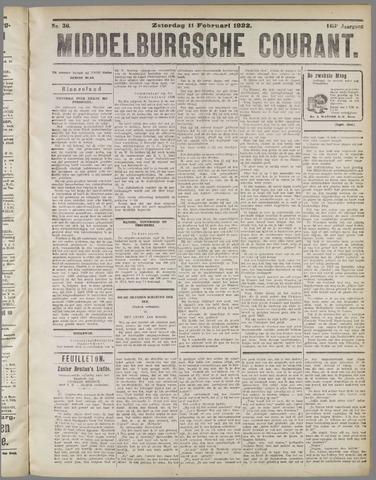 Middelburgsche Courant 1922-02-11