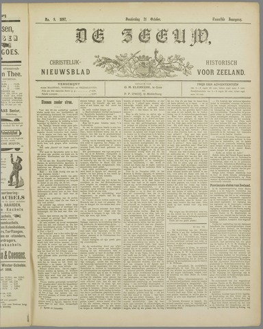 De Zeeuw. Christelijk-historisch nieuwsblad voor Zeeland 1897-10-21