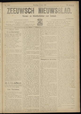 Ter Neuzensch Volksblad. Vrijzinnig nieuws- en advertentieblad voor Zeeuwsch- Vlaanderen / Zeeuwsch Nieuwsblad. Nieuws- en advertentieblad voor Zeeland 1918-06-01
