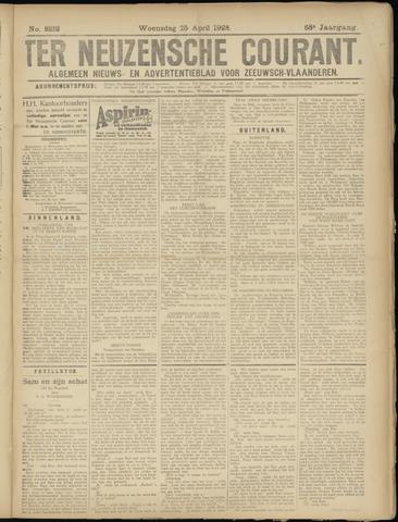 Ter Neuzensche Courant. Algemeen Nieuws- en Advertentieblad voor Zeeuwsch-Vlaanderen / Neuzensche Courant ... (idem) / (Algemeen) nieuws en advertentieblad voor Zeeuwsch-Vlaanderen 1928-04-25