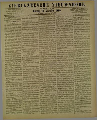 Zierikzeesche Nieuwsbode 1889-11-19