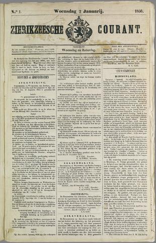 Zierikzeesche Courant 1856