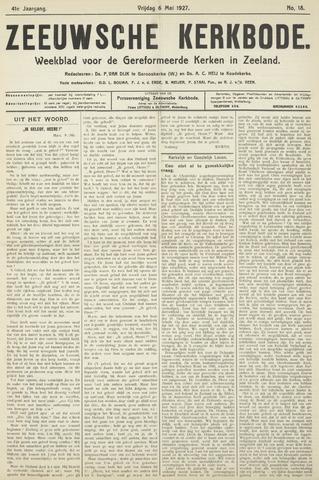 Zeeuwsche kerkbode, weekblad gewijd aan de belangen der gereformeerde kerken/ Zeeuwsch kerkblad 1927-05-06