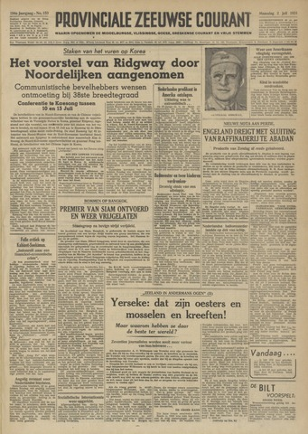 Provinciale Zeeuwse Courant 1951-07-02