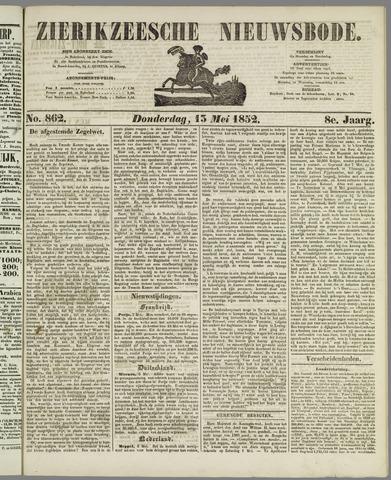 Zierikzeesche Nieuwsbode 1852-05-13