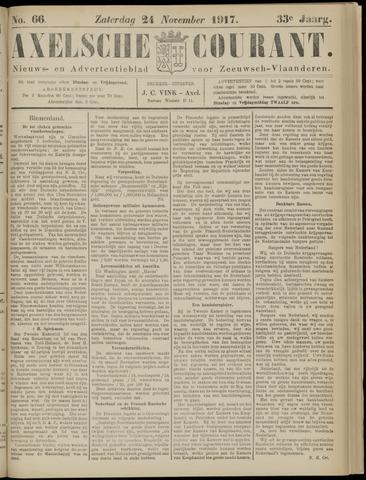 Axelsche Courant 1917-11-24