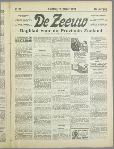 De Zeeuw. Christelijk-historisch nieuwsblad voor Zeeland 1930-02-19