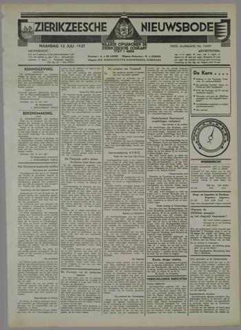 Zierikzeesche Nieuwsbode 1937-07-12