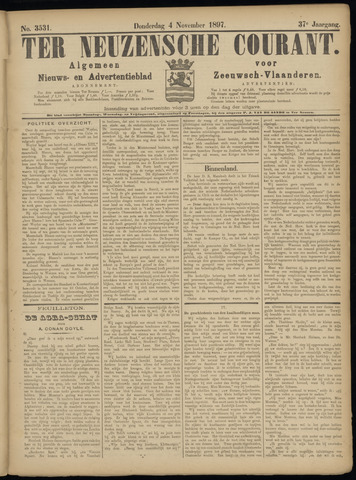 Ter Neuzensche Courant. Algemeen Nieuws- en Advertentieblad voor Zeeuwsch-Vlaanderen / Neuzensche Courant ... (idem) / (Algemeen) nieuws en advertentieblad voor Zeeuwsch-Vlaanderen 1897-11-04