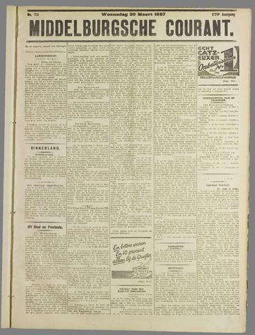 Middelburgsche Courant 1927-03-30