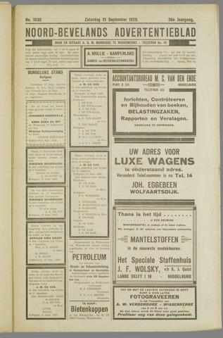 Noord-Bevelands Nieuws- en advertentieblad 1929-09-21