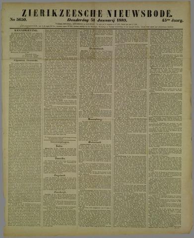 Zierikzeesche Nieuwsbode 1889-01-31