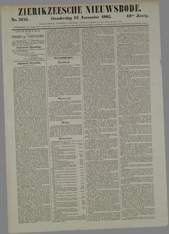 Zierikzeesche Nieuwsbode 1885-11-12