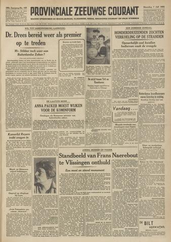 Provinciale Zeeuwse Courant 1952-07-07