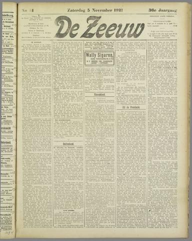 De Zeeuw. Christelijk-historisch nieuwsblad voor Zeeland 1921-11-05