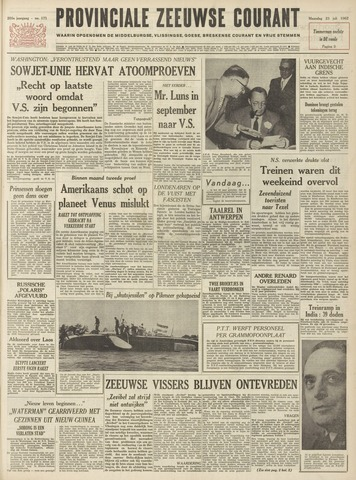 Provinciale Zeeuwse Courant 1962-07-23