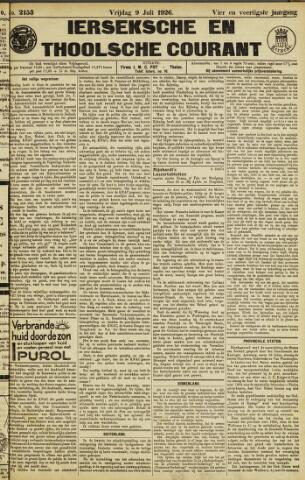 Ierseksche en Thoolsche Courant 1926-07-09