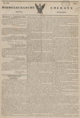 Middelburgsche Courant 1843-12-16