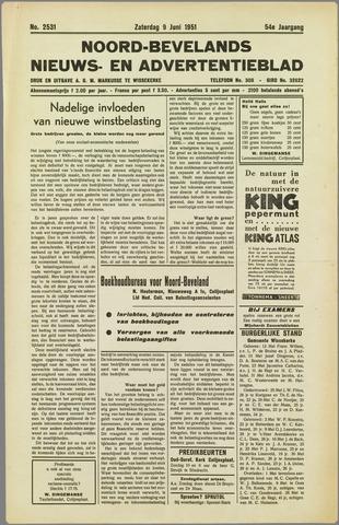 Noord-Bevelands Nieuws- en advertentieblad 1951-06-09