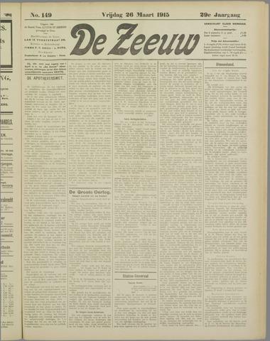 De Zeeuw. Christelijk-historisch nieuwsblad voor Zeeland 1915-03-26