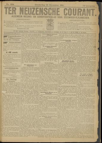 Ter Neuzensche Courant. Algemeen Nieuws- en Advertentieblad voor Zeeuwsch-Vlaanderen / Neuzensche Courant ... (idem) / (Algemeen) nieuws en advertentieblad voor Zeeuwsch-Vlaanderen 1914-12-24
