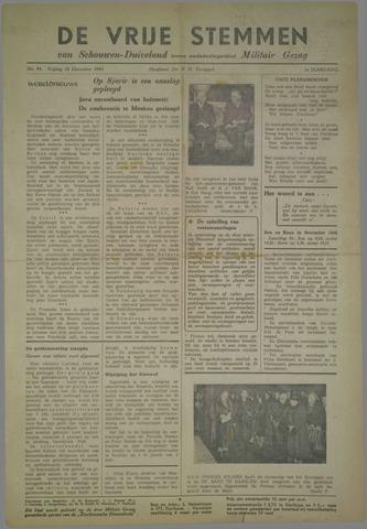 Vrije Stemmen van Schouwen-Duiveland, tevens mededeelingenblad Militair Gezag 1945-12-28