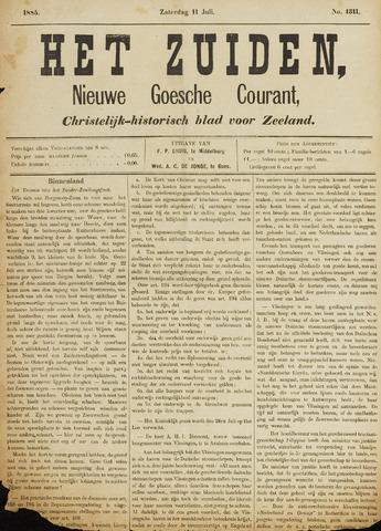 Het Zuiden, Christelijk-historisch blad 1885-07-11