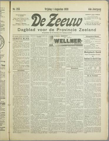 De Zeeuw. Christelijk-historisch nieuwsblad voor Zeeland 1930-08-01