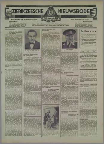 Zierikzeesche Nieuwsbode 1940-08-14