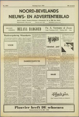Noord-Bevelands Nieuws- en advertentieblad 1957-06-08