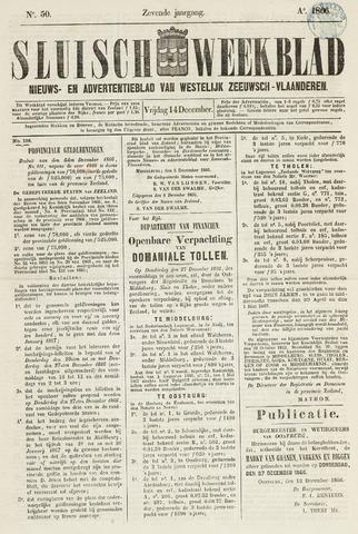 Sluisch Weekblad. Nieuws- en advertentieblad voor Westelijk Zeeuwsch-Vlaanderen 1866-12-14