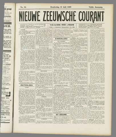 Nieuwe Zeeuwsche Courant 1909-07-22
