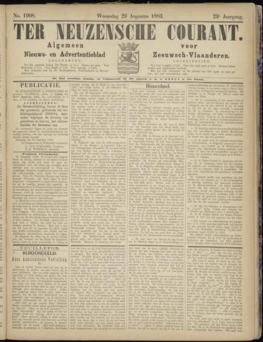 Ter Neuzensche Courant. Algemeen Nieuws- en Advertentieblad voor Zeeuwsch-Vlaanderen / Neuzensche Courant ... (idem) / (Algemeen) nieuws en advertentieblad voor Zeeuwsch-Vlaanderen 1883-08-29