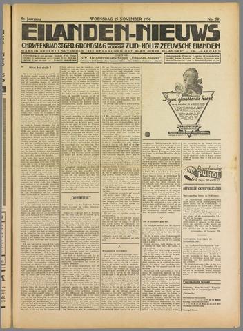 Eilanden-nieuws. Christelijk streekblad op gereformeerde grondslag 1936-11-25