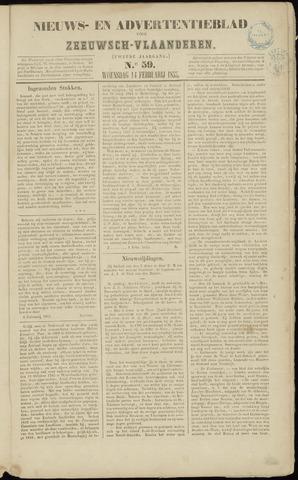 Ter Neuzensche Courant. Algemeen Nieuws- en Advertentieblad voor Zeeuwsch-Vlaanderen / Neuzensche Courant ... (idem) / (Algemeen) nieuws en advertentieblad voor Zeeuwsch-Vlaanderen 1855-02-14