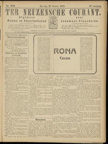 Ter Neuzensche Courant. Algemeen Nieuws- en Advertentieblad voor Zeeuwsch-Vlaanderen / Neuzensche Courant ... (idem) / (Algemeen) nieuws en advertentieblad voor Zeeuwsch-Vlaanderen 1912-10-26