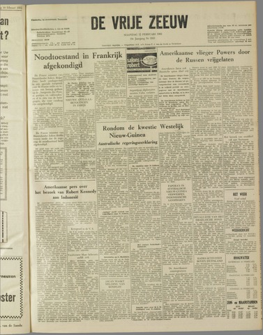 de Vrije Zeeuw 1962-02-12