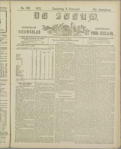 De Zeeuw. Christelijk-historisch nieuwsblad voor Zeeland 1912-02-03