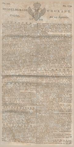 Middelburgsche Courant 1779-09-14
