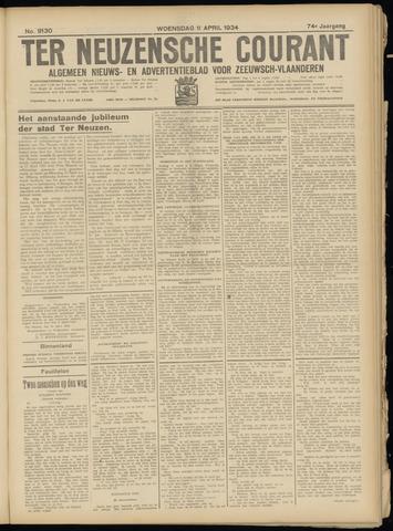 Ter Neuzensche Courant. Algemeen Nieuws- en Advertentieblad voor Zeeuwsch-Vlaanderen / Neuzensche Courant ... (idem) / (Algemeen) nieuws en advertentieblad voor Zeeuwsch-Vlaanderen 1934-04-11