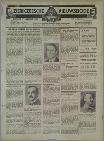 Zierikzeesche Nieuwsbode 1940-08-17