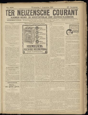 Ter Neuzensche Courant. Algemeen Nieuws- en Advertentieblad voor Zeeuwsch-Vlaanderen / Neuzensche Courant ... (idem) / (Algemeen) nieuws en advertentieblad voor Zeeuwsch-Vlaanderen 1929-08-07
